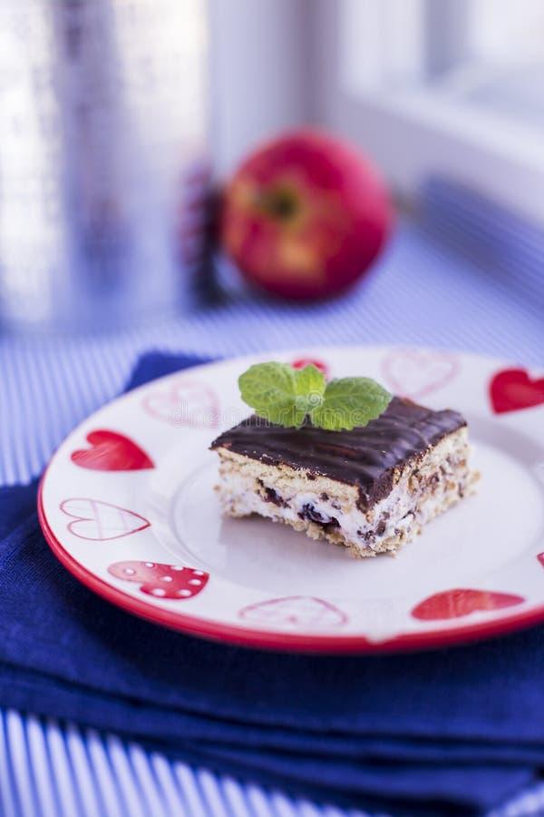 Torta con el chocolate y el ricotta fotografía de archivo libre de regalías