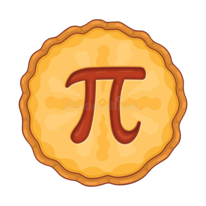 Torta con l'illustrazione di simbolo di pi illustrazione vettoriale