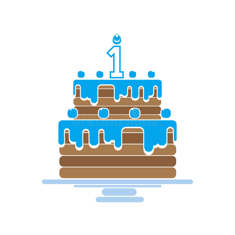 Torta con las velas libre illustration