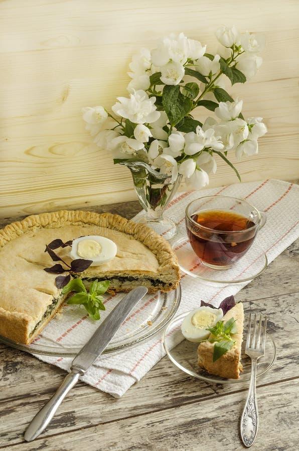 Download Torta Con Spinaci E Le Uova Fotografia Stock - Immagine di torta, cotto: 55360552