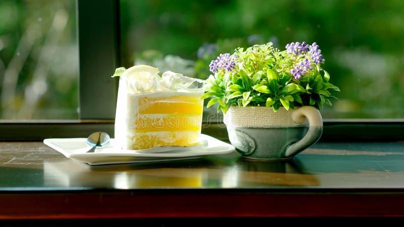 torta condimentada limón con un gusto agridulce perfectamente foto de archivo