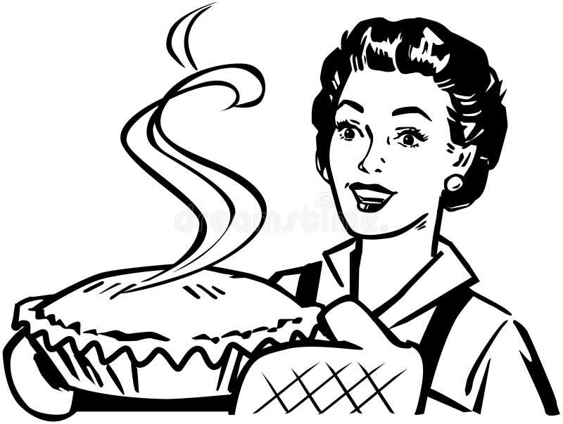 Torta cozida fresca ilustração royalty free