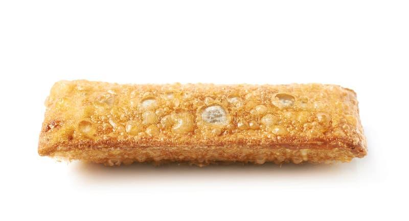 Torta croccante fritta olio isolata fotografia stock