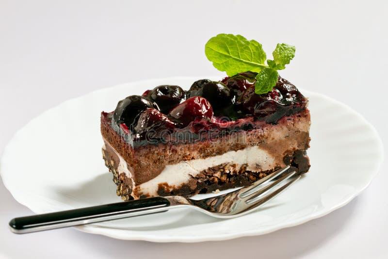 Torta Da Cereja Imagem de Stock