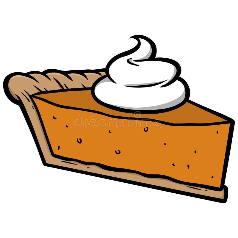 Torta de abóbora ilustração royalty free
