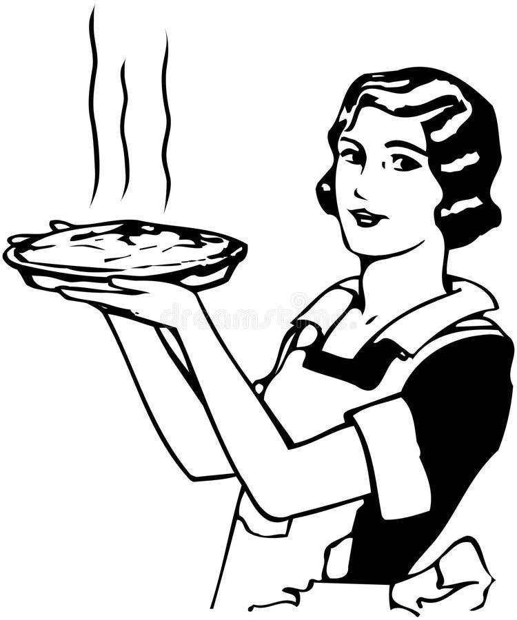 Torta de Apple das mamãs ilustração do vetor