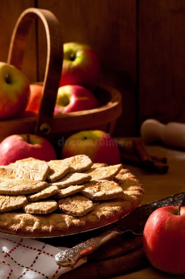 Torta de Apple rústica imagem de stock