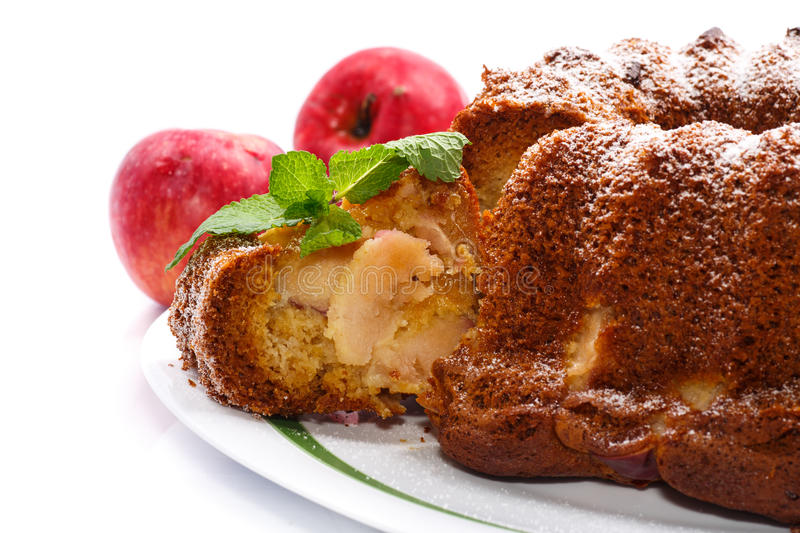 Torta de Apple y de miel imagen de archivo