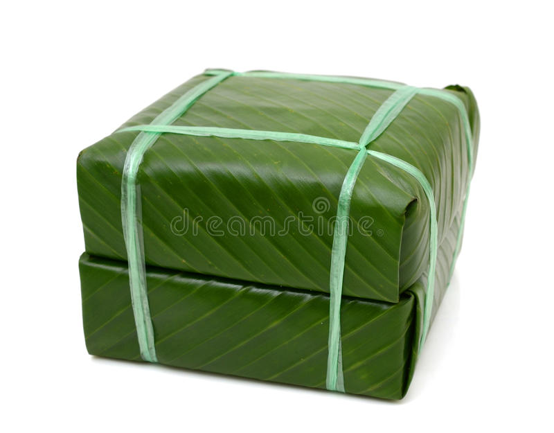 Torta de arroz pegajosa cuadrada cocinada, comida vietnamita del Año Nuevo fotografía de archivo libre de regalías
