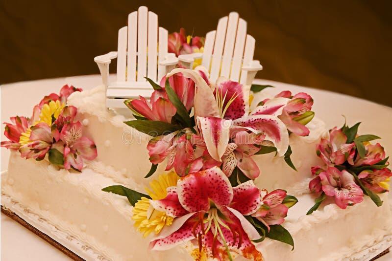 Torta de boda única imagen de archivo libre de regalías