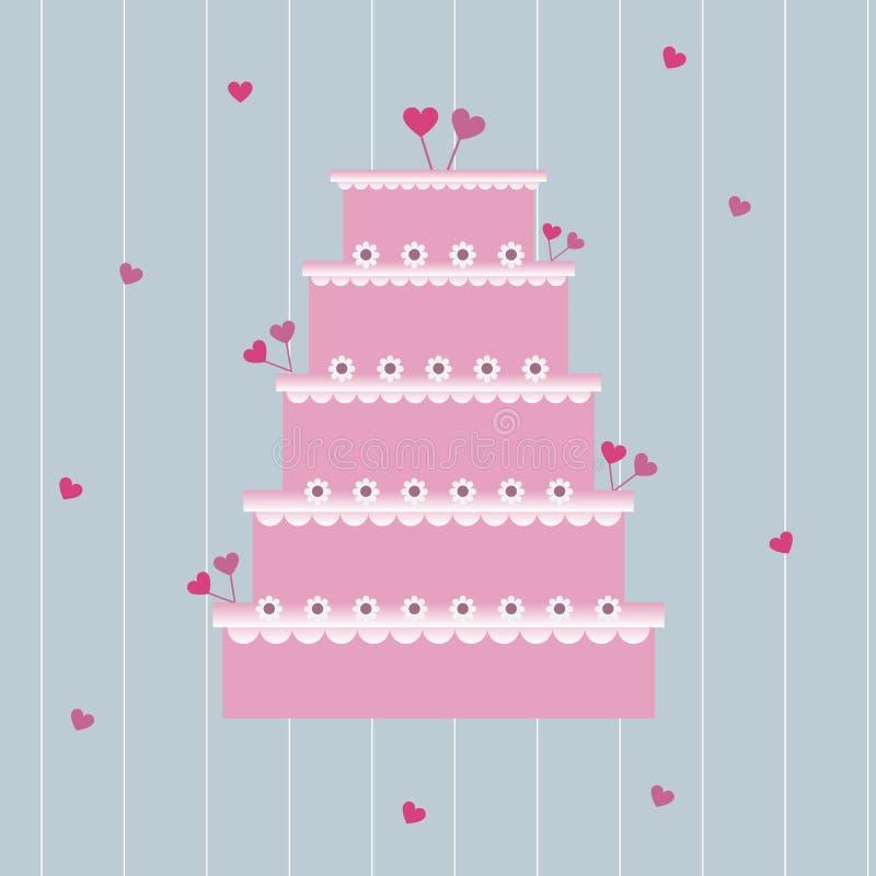 Torta de boda stock de ilustración
