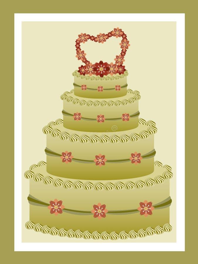 Torta de boda del té verde libre illustration