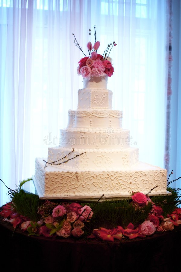 Torta de boda hermosa foto de archivo