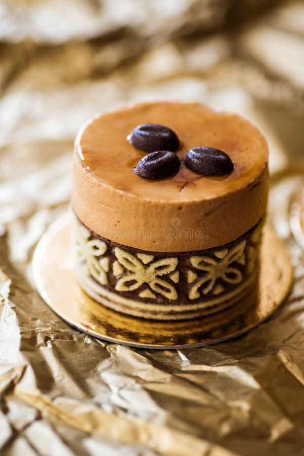 Torta de café de lujo imagenes de archivo