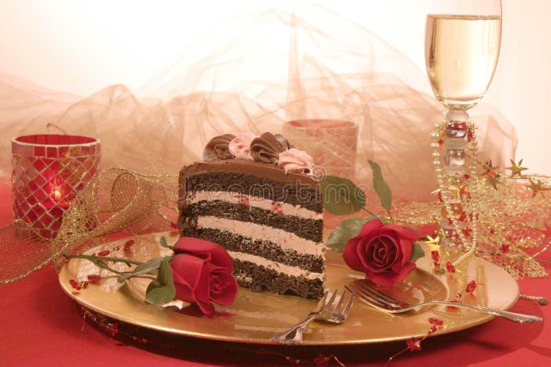 Torta de capa del chocolate imagenes de archivo