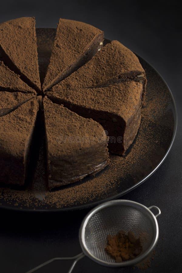 Torta de chocolate imágenes de archivo libres de regalías