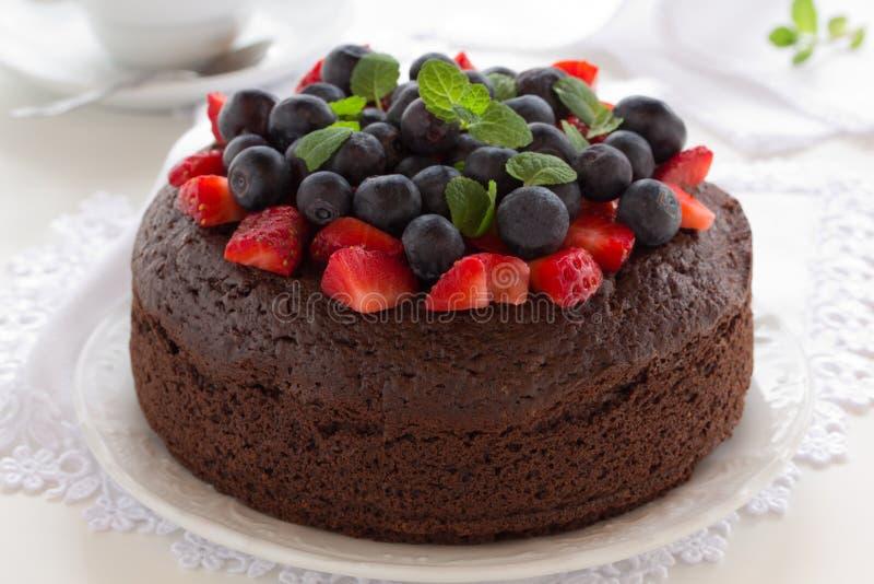 Torta de chocolate imagen de archivo libre de regalías