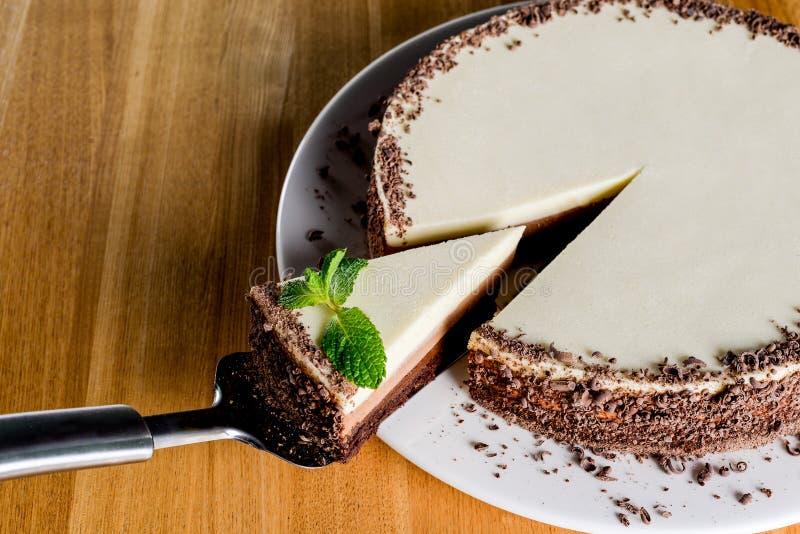 Torta de chocolate blanca foto de archivo