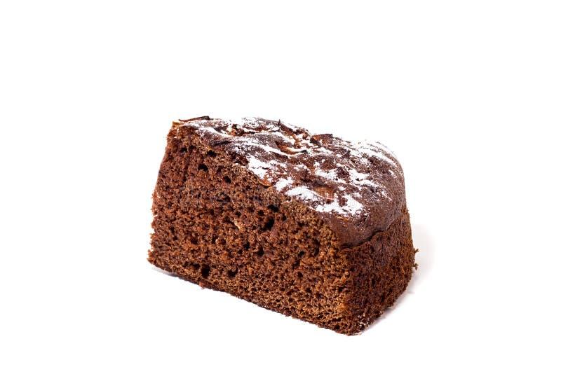 Torta de chocolate con el azúcar en polvo, imagen de archivo libre de regalías