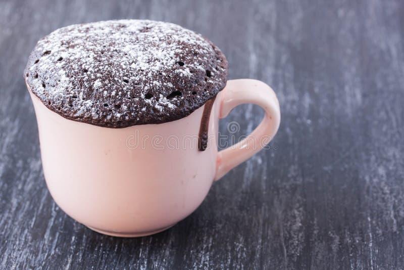 Torta de chocolate de la taza foto de archivo libre de regalías