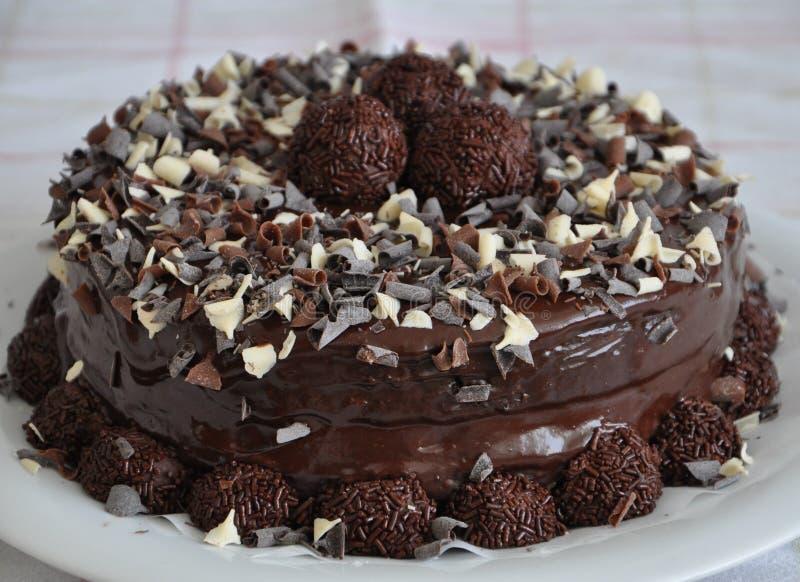 Torta de chocolate del árbol imagenes de archivo