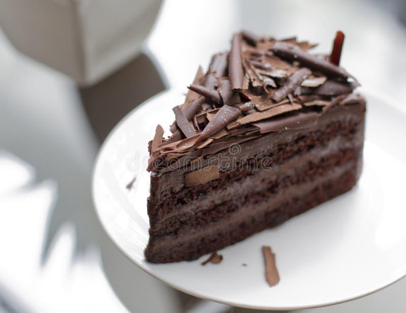 Torta de chocolate del brownie imágenes de archivo libres de regalías