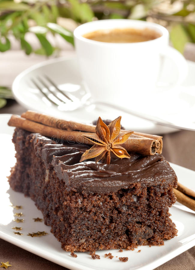 Torta de chocolate fresca imagen de archivo libre de regalías
