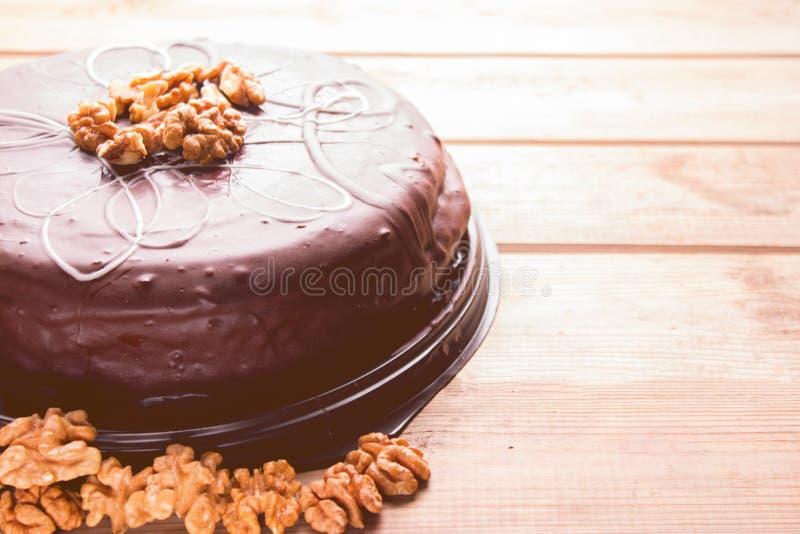 Torta de chocolate grande fotos de archivo