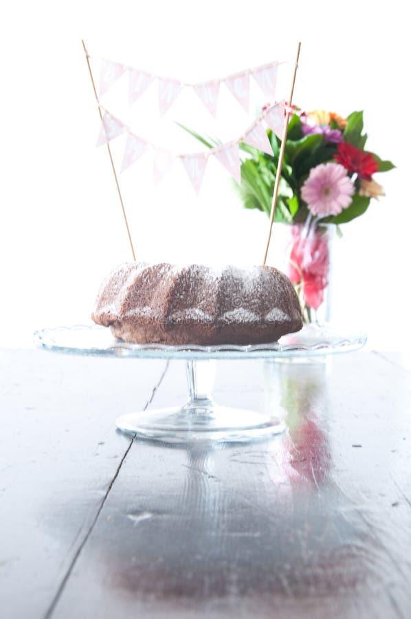 Torta de chocolate hermosa y deliciosa con queso del ricotta imagen de archivo