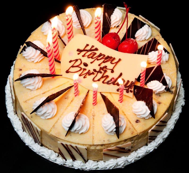 Torta de cumpleaños fotos de archivo libres de regalías