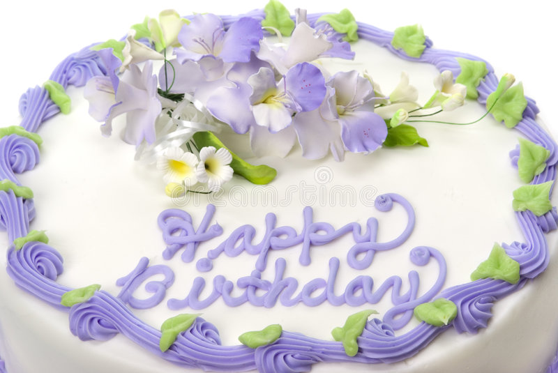 Torta de cumpleaños imágenes de archivo libres de regalías