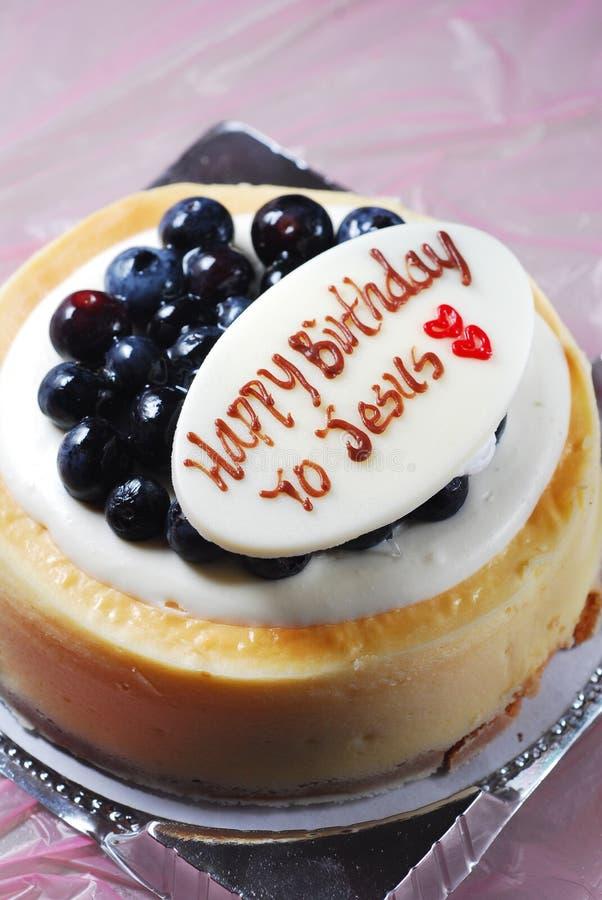Torta de cumpleaños de Jesús foto de archivo libre de regalías