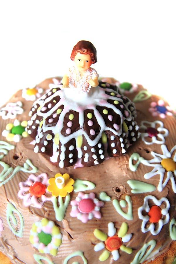 Torta de cumpleaños hecha casera original foto de archivo libre de regalías
