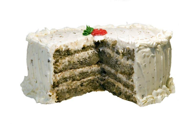 Torta de especia con helar del queso poner crema imagen de archivo libre de regalías