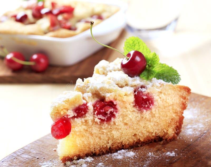 Torta de esponja de la cereza foto de archivo libre de regalías