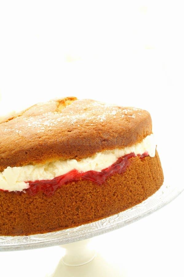 Torta de esponja de Victoria imagen de archivo