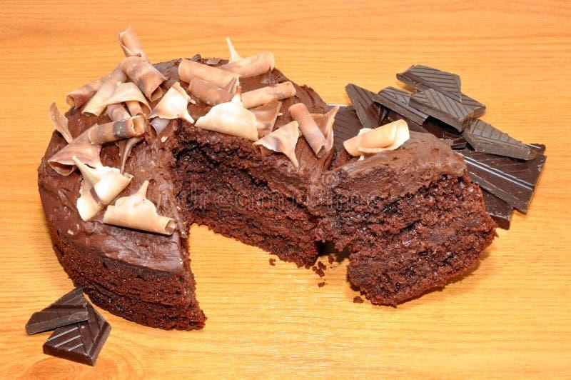 Torta de esponja del chocolate imagen de archivo libre de regalías