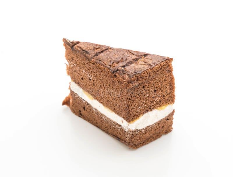 Torta de gasa del chocolate fotos de archivo
