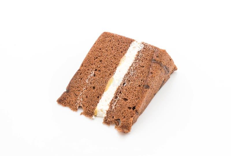 Torta de gasa del chocolate imagen de archivo