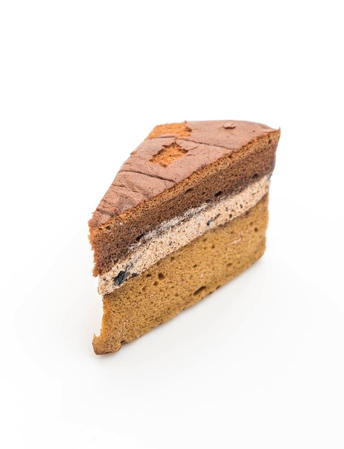 torta de gasa del chocolate y del café imagen de archivo
