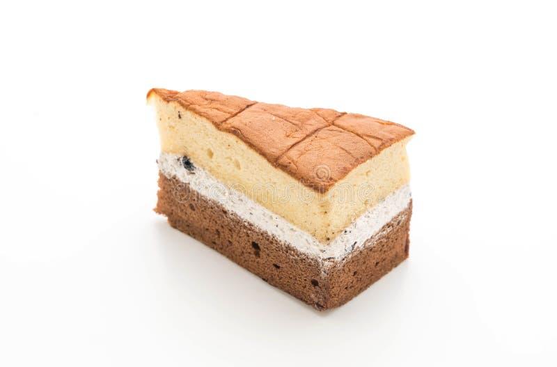 torta de gasa de la pasa y del chocolate del ron fotografía de archivo libre de regalías