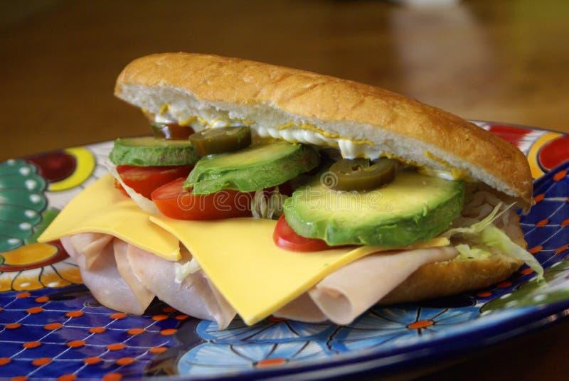 Torta de Jamon Sandwich 免版税图库摄影