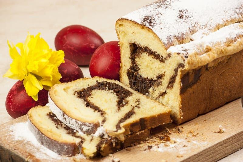 Torta de la castaña de Pascua imagen de archivo libre de regalías