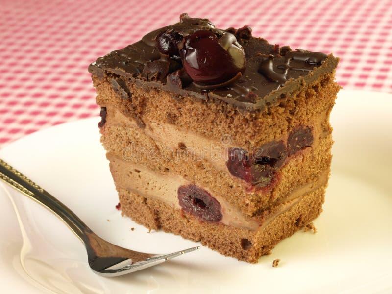 Torta de la cereza foto de archivo libre de regalías