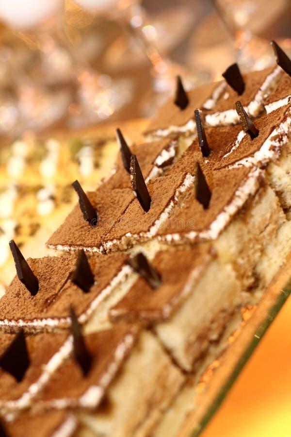 Torta de la crema batida de chocolate foto de archivo libre de regalías