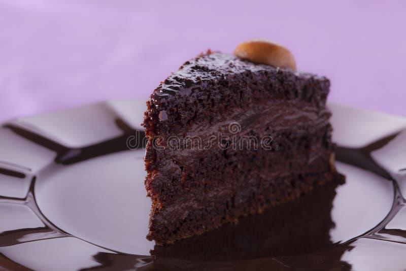 Torta de la crema del chocolate fotos de archivo