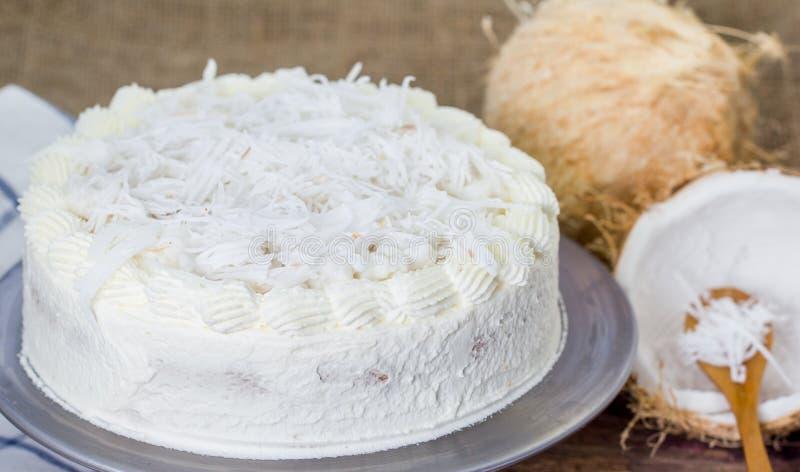 Torta de la crema del coco fotografía de archivo libre de regalías