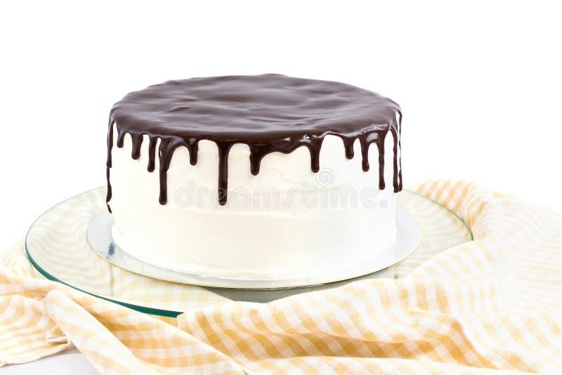 Torta de la crema y de chocolate fotografía de archivo