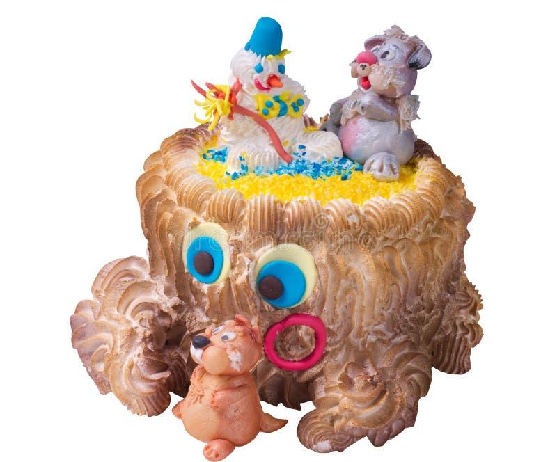 Torta de la fiesta de cumpleaños de los niños foto de archivo libre de regalías