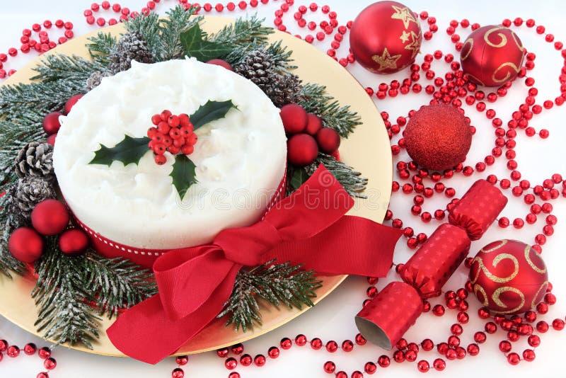 Torta de la fiesta de Navidad fotos de archivo libres de regalías